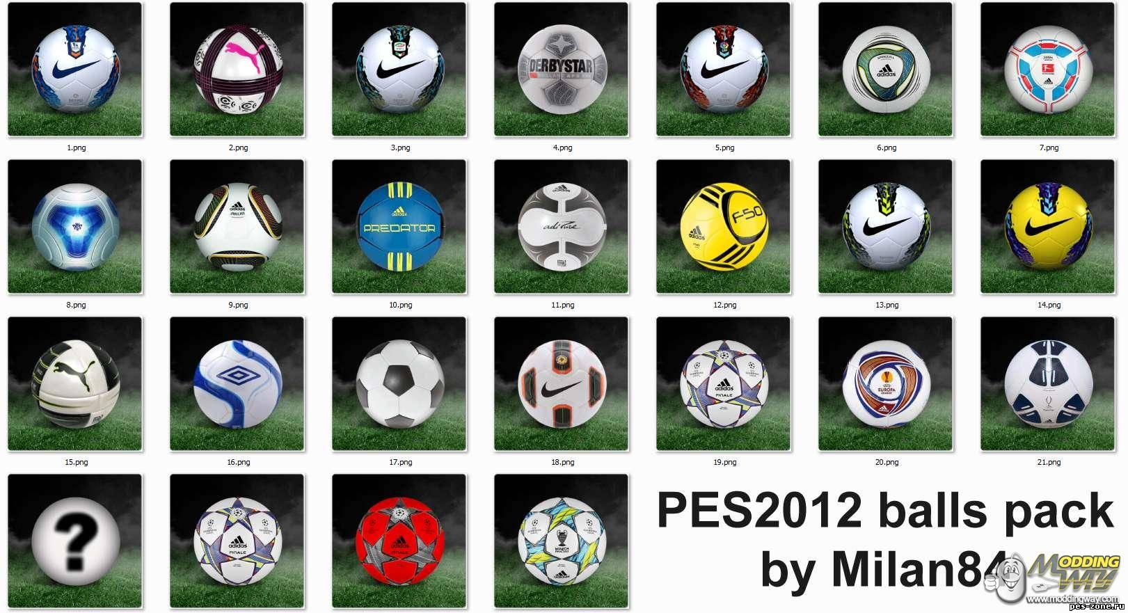 PES2012 balls pack