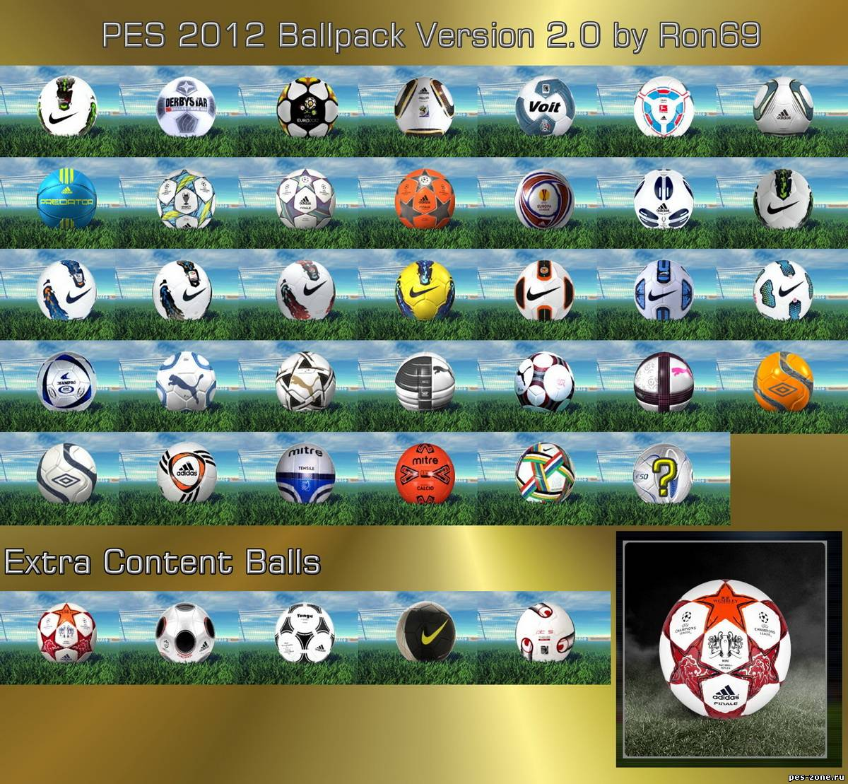 PES 2012 Ballpack version 2.0