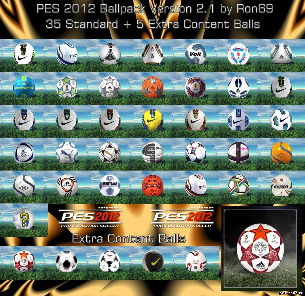 PES 2012 Ballpack Version 2.1