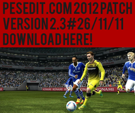PESEdit.com 2012 Patch 2.3 + Fix 2.3.1