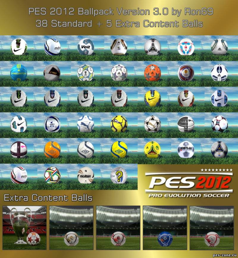 PES 2012 Ballpack Version 3 by Ron69