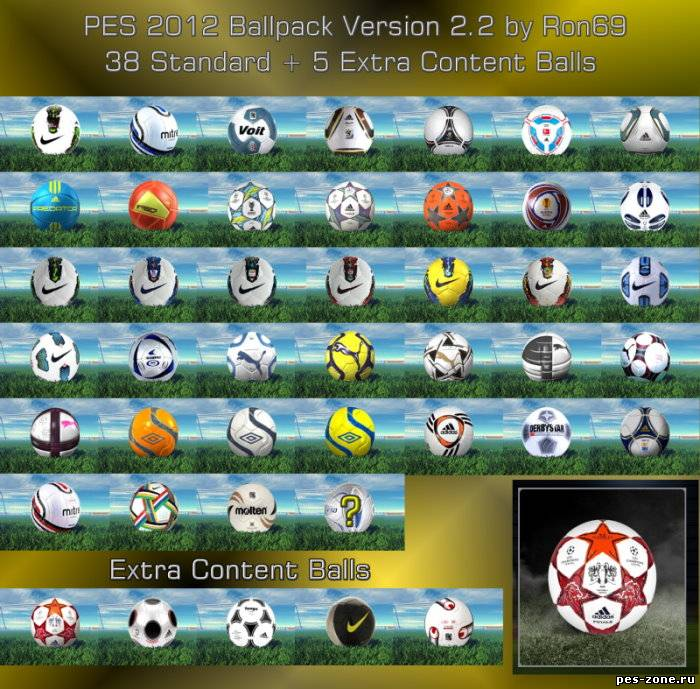 PES 2012 Ballpack Version 2.2 by Ron69