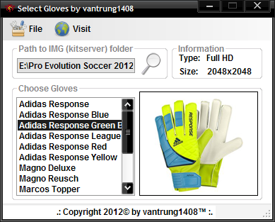 PES 2012 - Select gloves