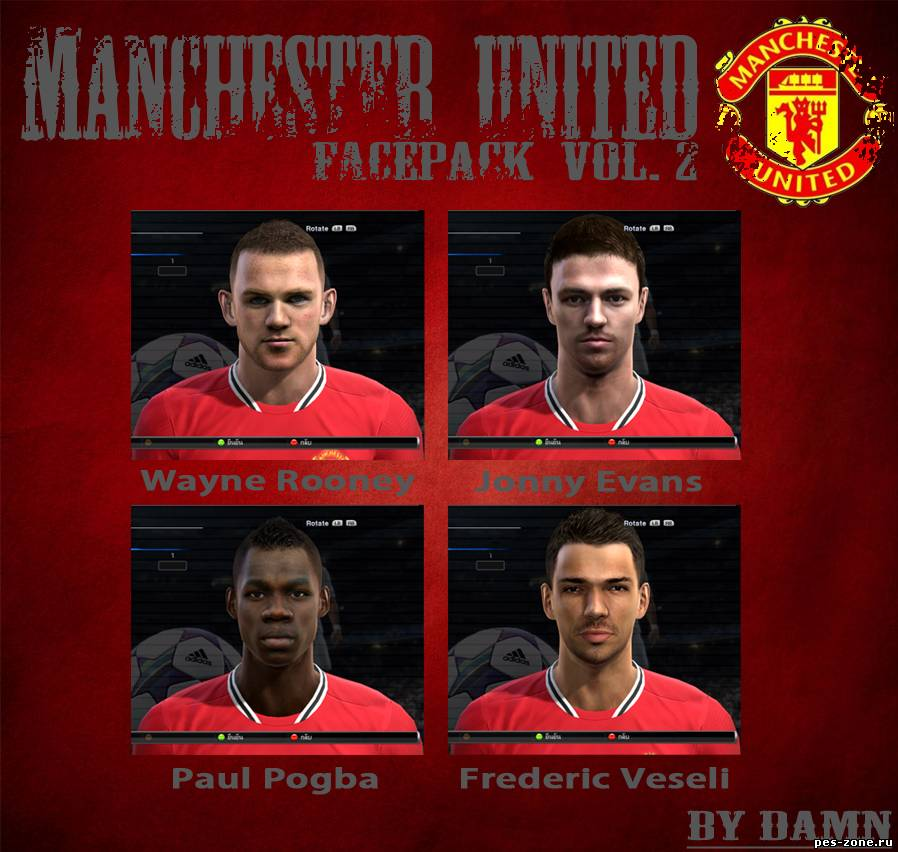 PES 2012 - Manchester United Faces Pack