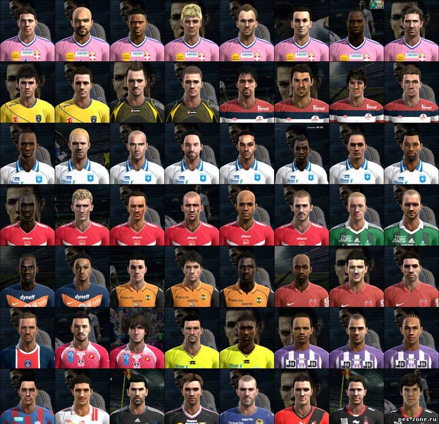 PES 2012 - French Ligue Mega Faces Pack
