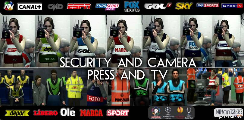 PES 2012 Graphics – Security and Camera [Press and Tv]