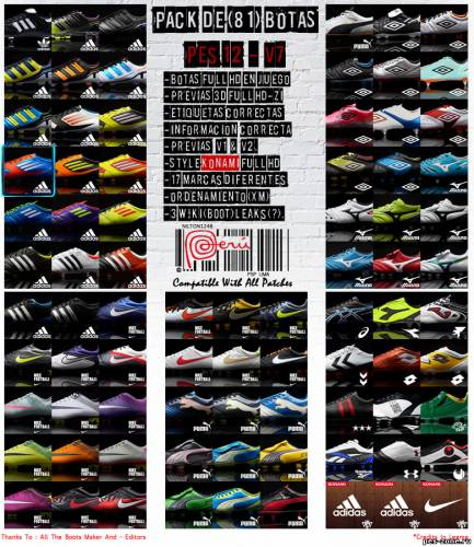 PES 2012 HD Bootpack (81 Boots) by Nilton1248