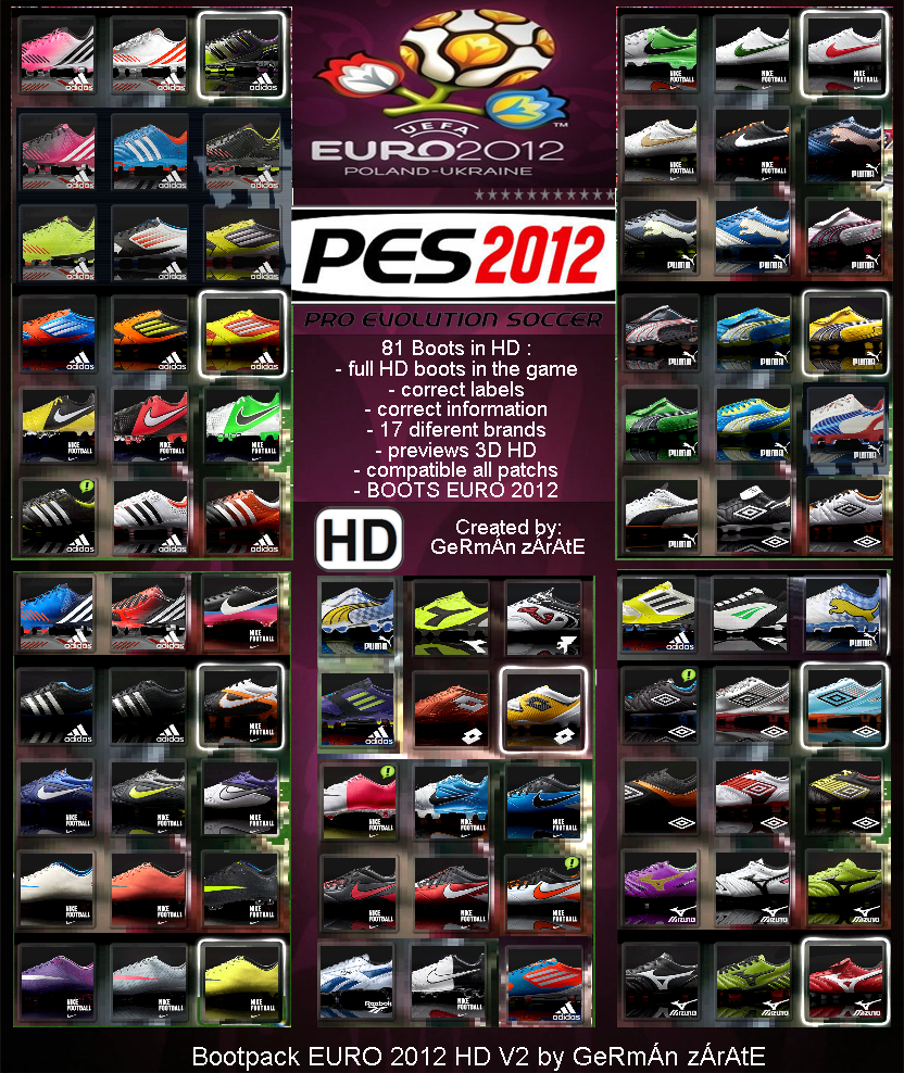 Bootpack EURO 2012 - 12/13 HD pes 2012