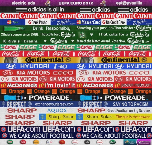 PES2012 Real EURO2012 Electric Adboards