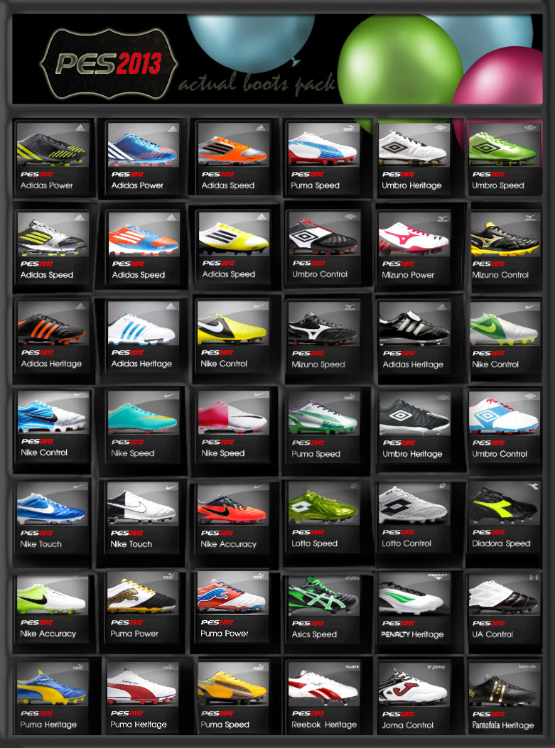 PES13 Actual Boots Pack [Oct]