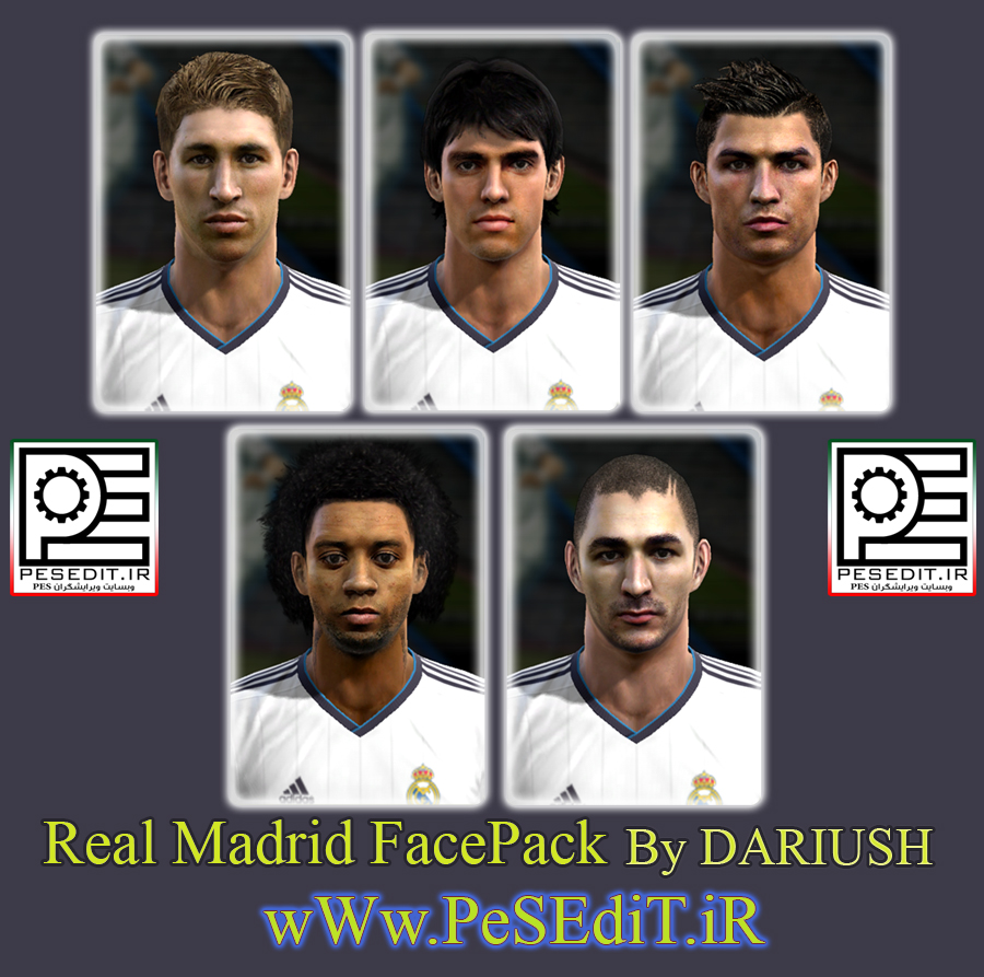 Real Madrid FacePack By DARIUSH
