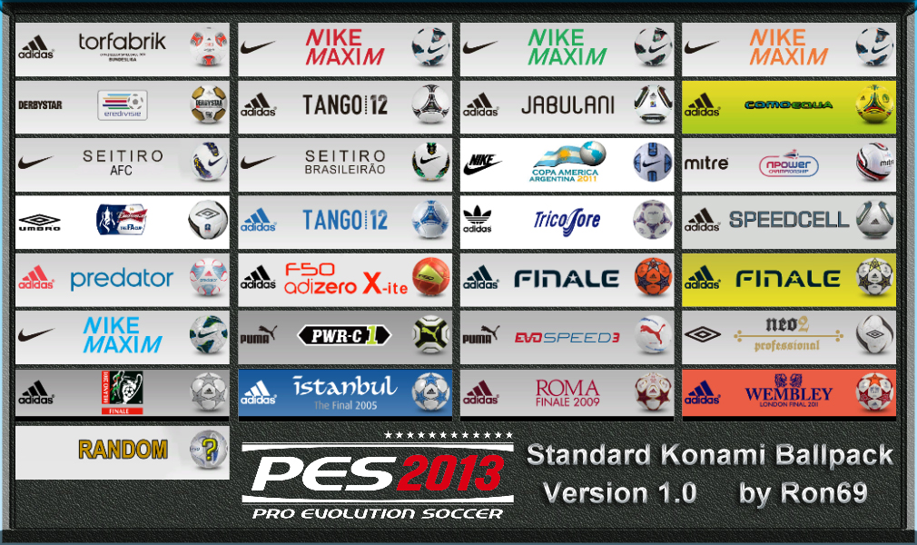 PES 2013 Ballpack 1.0 by Ron69