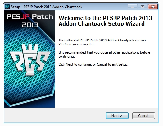 PESJP Patch 2013 Chantpack
