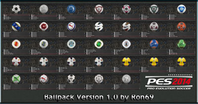 PES 2014 Ballpack 1.0 by Ron69