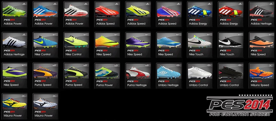 PES 2014 Actual Boots Pack x2