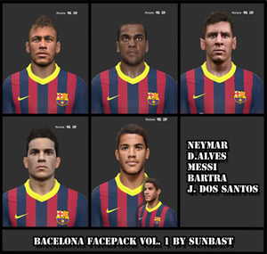 PES 2014 Bacelona Facepack vol.1