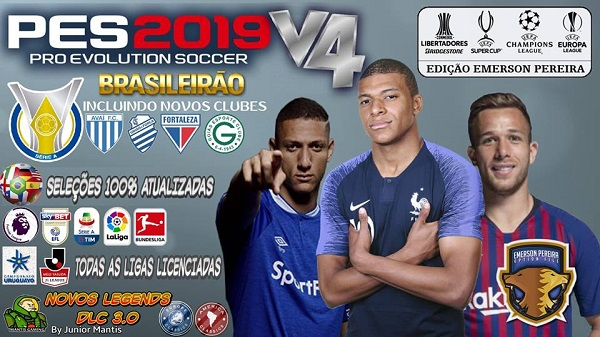 PES 2019 PS4 Option File v4 Season 2018/2019