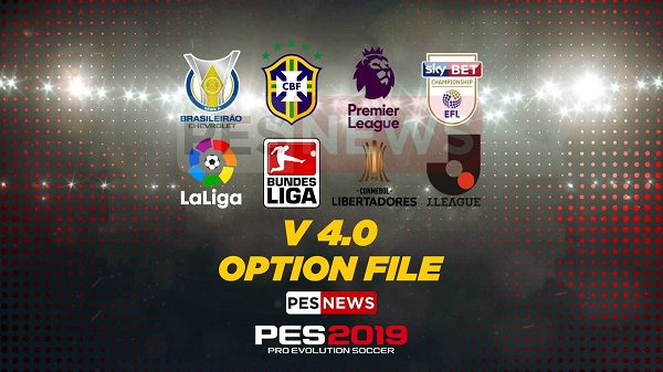 PES 2019 PS4 Patch - PESNews v4.0 Option File