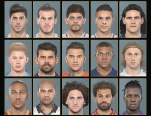 FIFA19 Conversions Faces Pack #1 For PES 19