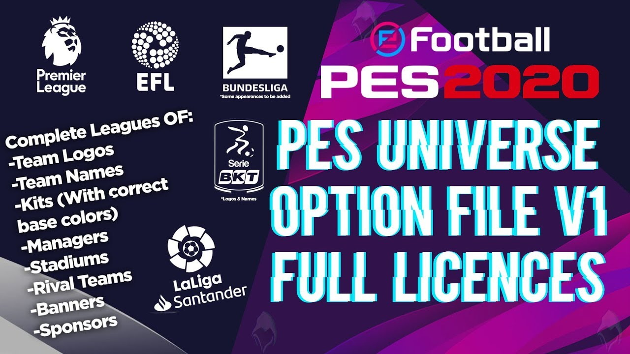PES 2020 PC PESUniverse Patch v1